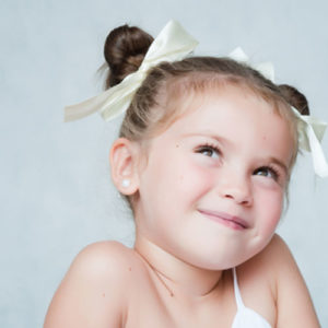 Little Girl Hairstyles - Twisted Double Bun Hair