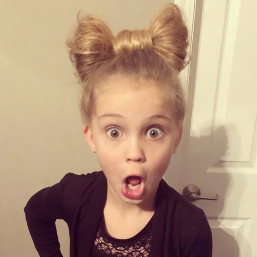Little Girl Updos - Bow Bun Cute Hairstyles