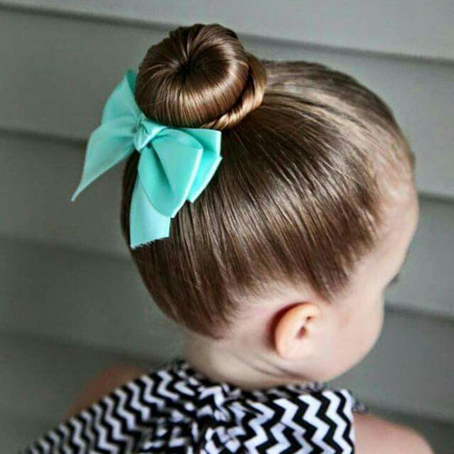 Little Girl Updos - Easy Wrap Around Bun