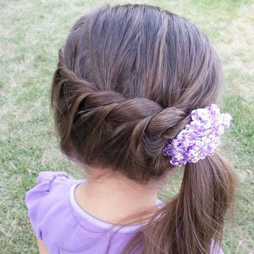 Simple Braided Side Ponytail - Hairstyles For Girls With Long Hair