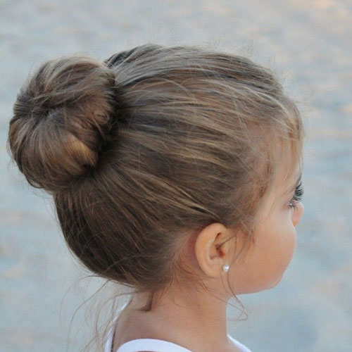 Simple Little Girl Hairstyles Bun