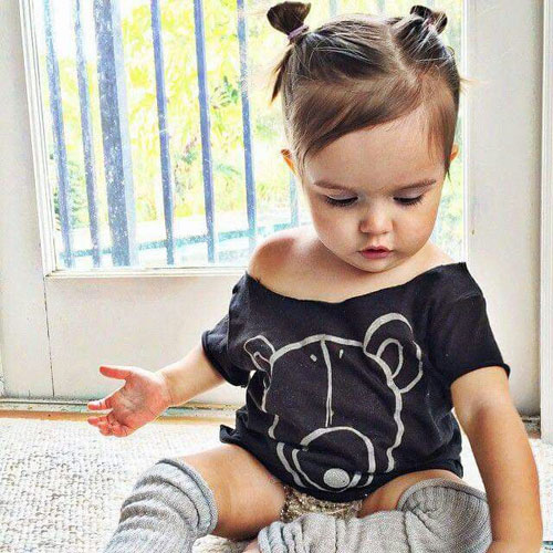 Toddler Hairstyles - Double Bun Little Girl Hairstyle