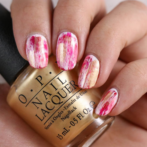 Abstract Valentines Nails