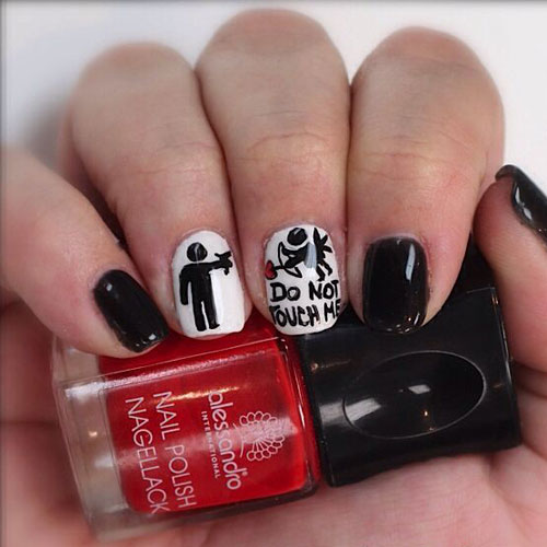 Best Anti Valentine's Day Nail Designs