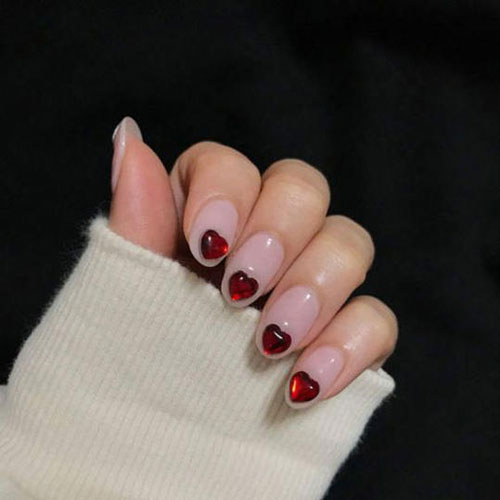 Charm Heart Nail Designs - Valentine Nails