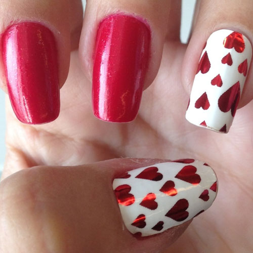 Heart Nail Art - Valentine Nail Designs