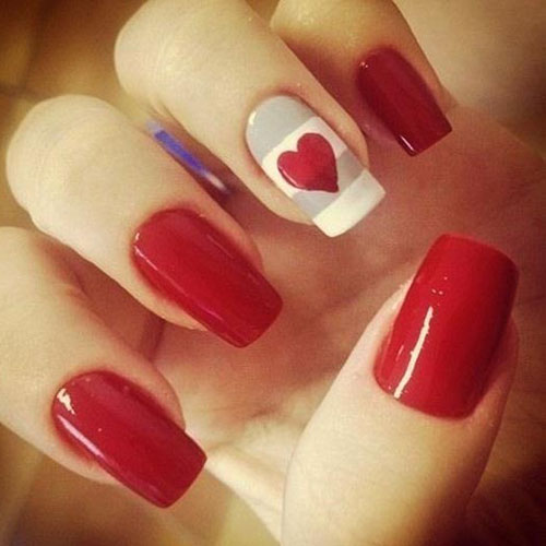 Heart Nail Designs - Valentine Nails