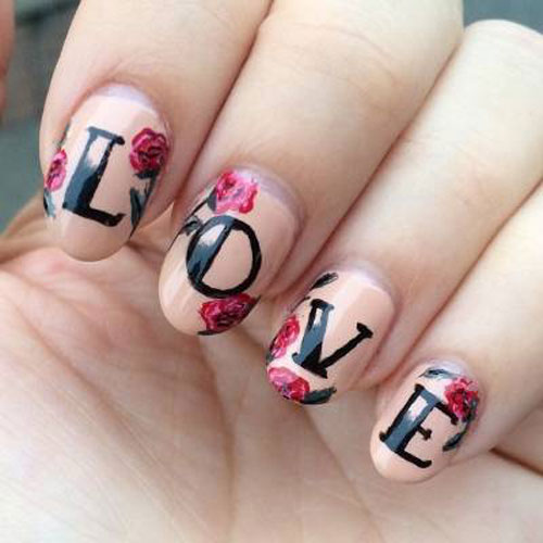 Love Nail Art -Valentine Nail Designs