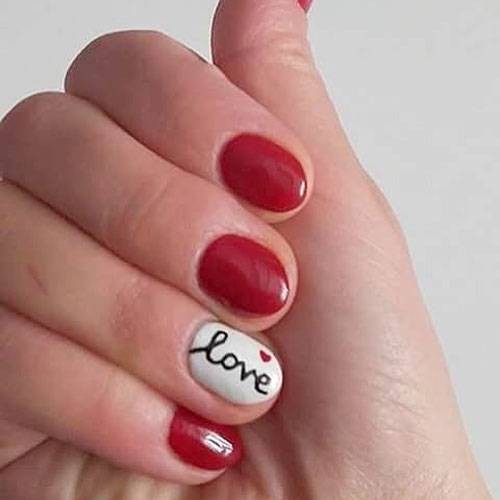 Short Valentines Nail Designs