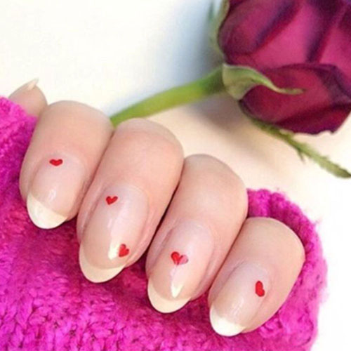 Simple Heart Nail Designs - Valentines Nails