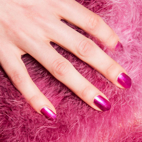 Simple Hot Pink Nail Designs - Valentines Nails