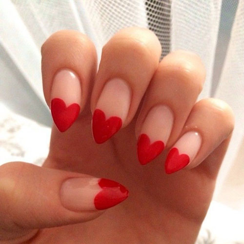 Simple Valentines Day Nail Designs