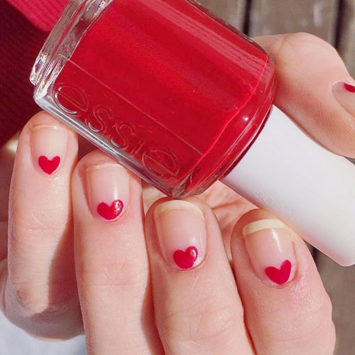 Small Heart Nail Art - Valentine Nail Designs