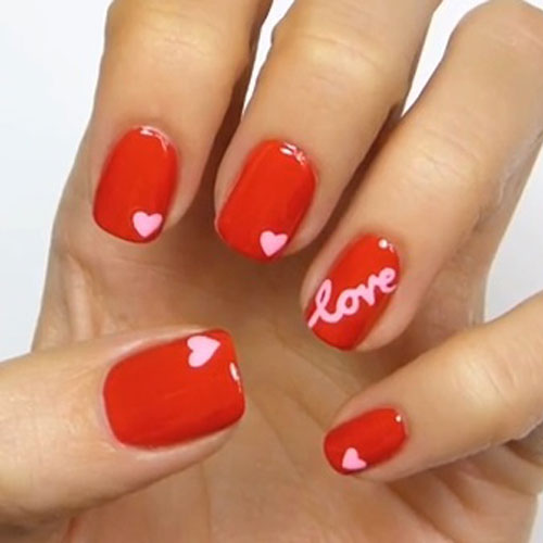Small Heart Nail Designs - Valentines Nails