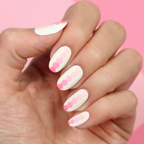 Valentine Nail Art - Simple Nail Color Ideas