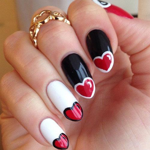 Valentine Nail Designs - Heart Nail Designs