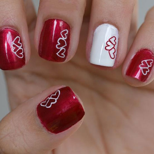 Valentines Day Art - Heart Nail Designs