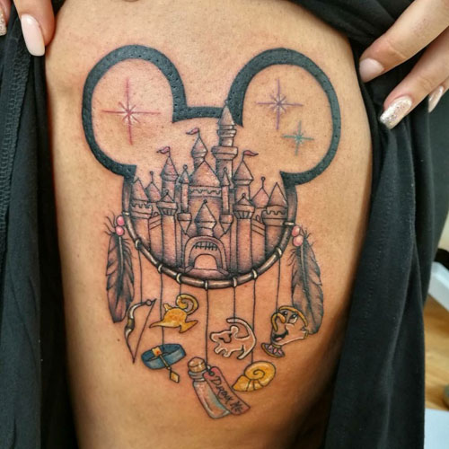 Amazing Tattoo Ideas - Disney Dreamcatcher Tattoo