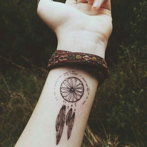 Amazing Tattoo Ideas - Simple Small Dream Catcher