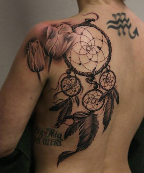 Big Dream Catchers - Dream Catcher Tattoo On Back