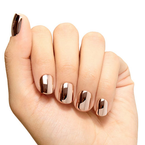 Bold Rose Gold Chrome Nail Polish - Rose Gold Nails