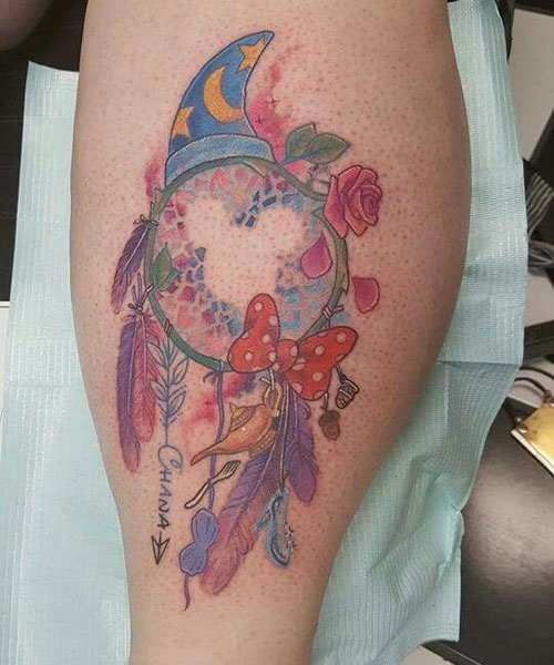 Disney Dream Catcher Tattoo Design - Disney Tattoo Ideas