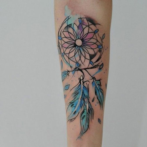 DreamCatcher Feathers - Forearm Tattoo