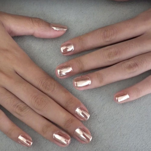 Metallic Rose Gold Nail Polish