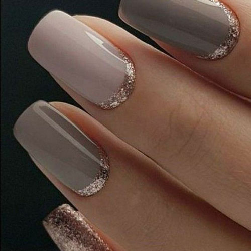 Natural Rose Gold Nails - Wedding Nail Designs