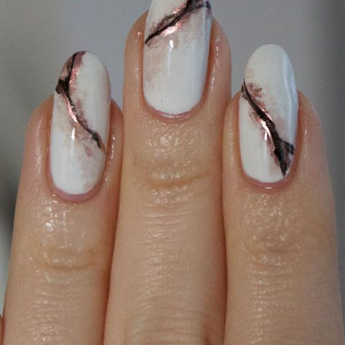 Rose Gold Marble Nail Designs - Rose Gold Nails