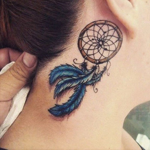 Simple Dreamcatcher tattoos - dreamcatcher feathers
