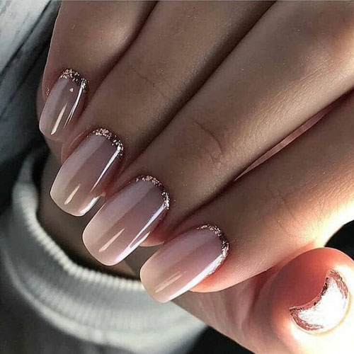 The Perfect Rose Gold Glitter Nail Accent - Rose Gold Nail Polish