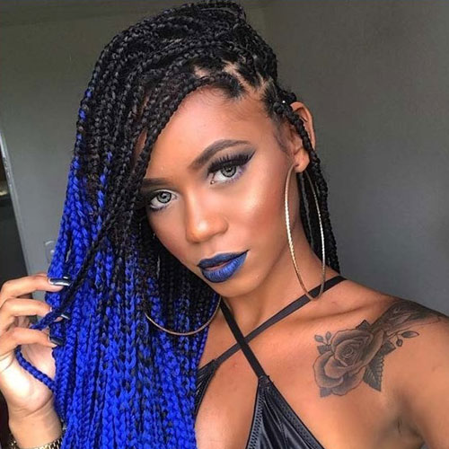 Braided Ombre - Best Braided Black Hairstyles