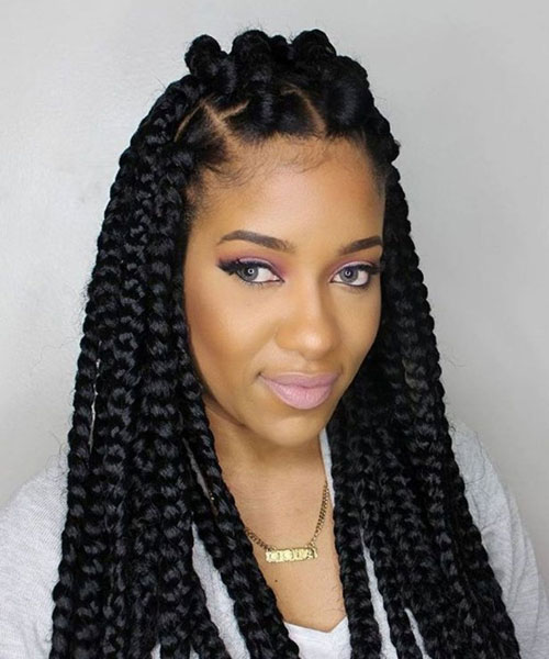 Large Twist Braids - Best Braided Black Hairstyles