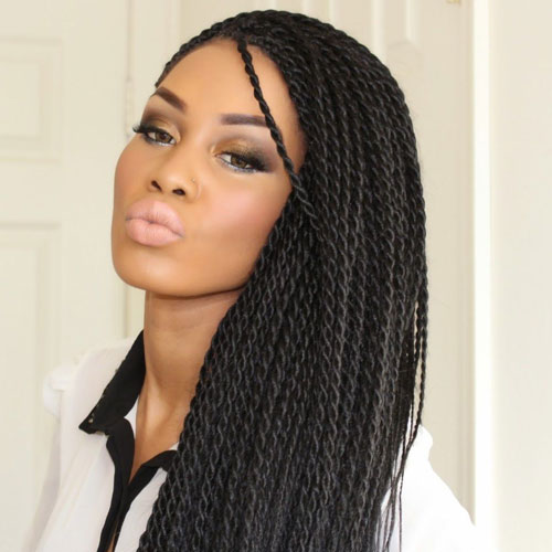 Rope Twist Braid Style - Best Braided Black Hairstyles