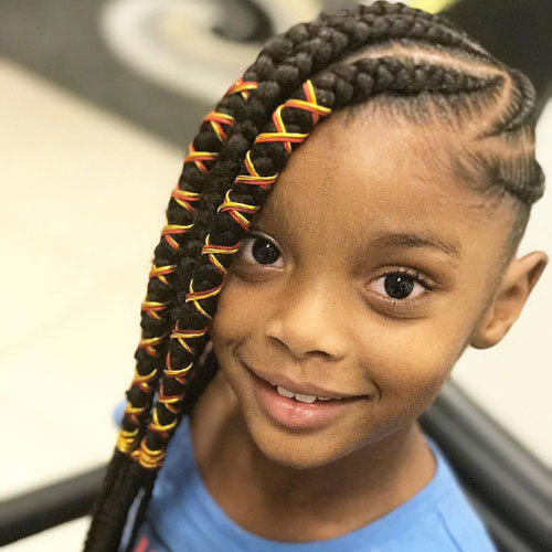 Adorable Lemonade Braids with Wrap