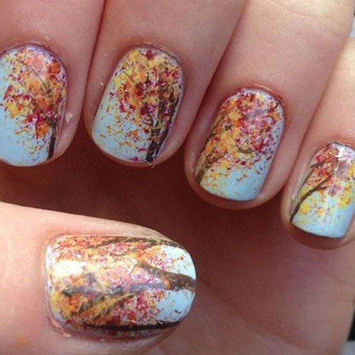 Beautiful Thanksgiving Nails - Different Color Nails
