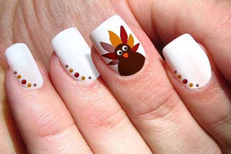 Creative Thanksgiving Nails - Fall Nail Colors