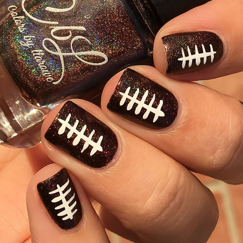 Football Nails - November Nails - Thanksgiving Nails