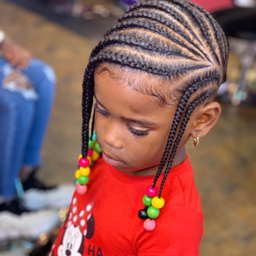 Lemonade Braids with Beads