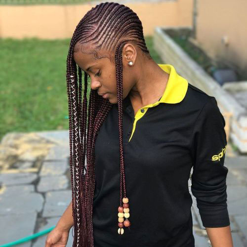 Long Lemonade Braids with Wrap