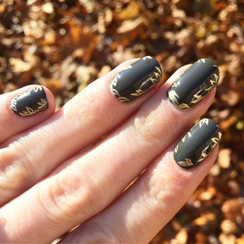 Matte Thanksgiving Nails - Fall Nail Colors - Thanksgiving Nail Ideas