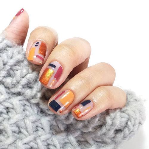 Modern Thanksgiving Nails - Fall Nail Color Ideas