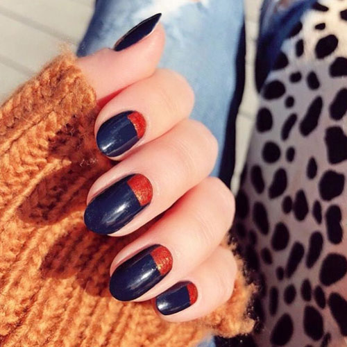 Modern Thanksgiving Nails - Fall Nail Colors