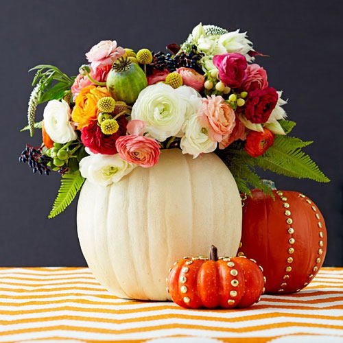 Thanksgiving Decoration Centerpieces - Pumpkin Centerpieces