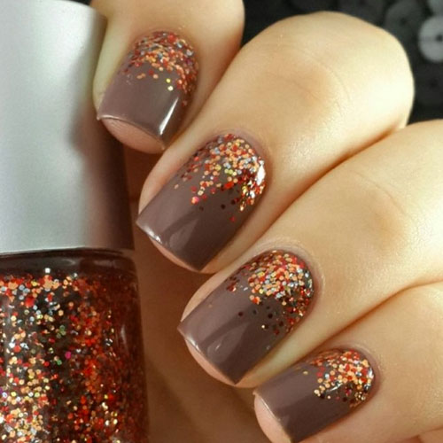 Thanksgiving Nail Color Ideas - Fall Nail Colors - Glitter Nail Art