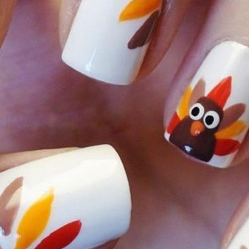 Thanksgiving Nail Ideas - Turkey Nail Ideas - Fall Nail Designs