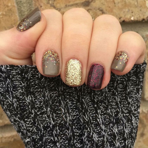 Thanksgiving Nails - Metallic Nails - Differnt Color Nails - Fall Nail Colors