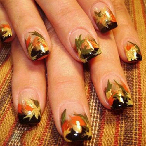 Thanksgiving Nails - Metallic Nails