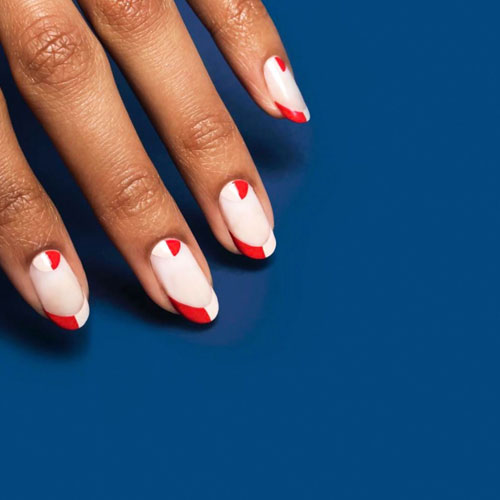 4th of July Nail Art Designs - Red and White Nails